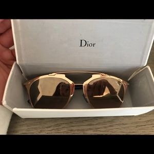 Dior reflected/s copper gold/Blue sunglasses 52mm